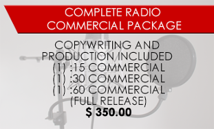 Complete Radio Commercial Package - Coupon