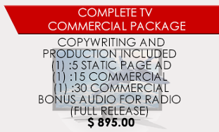 Complete TV Commercial Package - Coupon